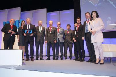 Die Strom zu Gas-Projektpartner bei der VKU-Preisverleihung in Berlin