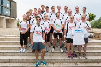 Das Läuferteam der WEMAG beim Fünf-Seen-Lauf 2014