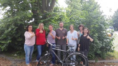 Die Mitarbeiter der WEMAG steigen auf's Fahrrad und leisten damit aktiv einen Beitrag zum Klimaschutz.