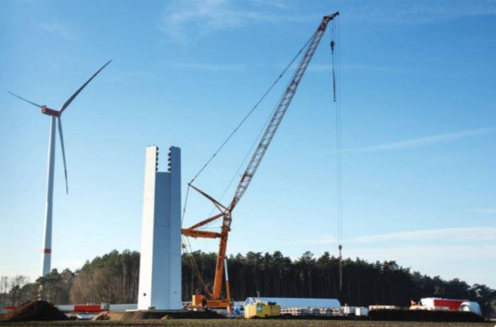 WEMAG - Aufbau einer Windkraftanlage